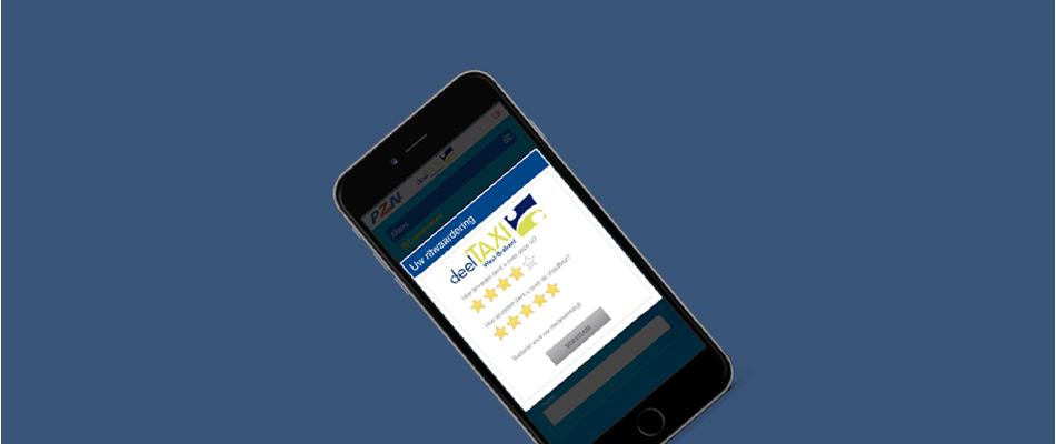 Telefoon met Taxi App